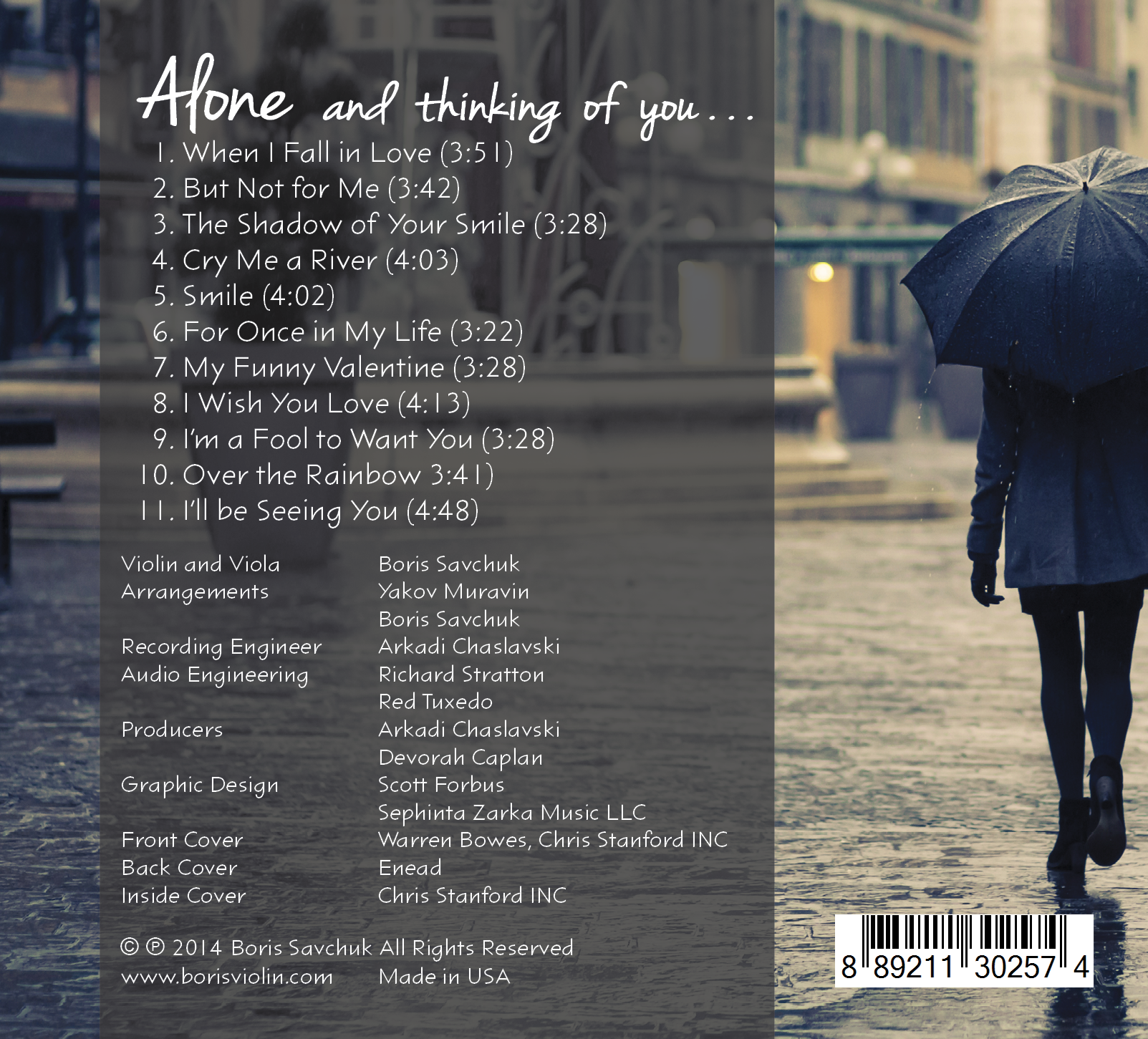 Alone Back Cover