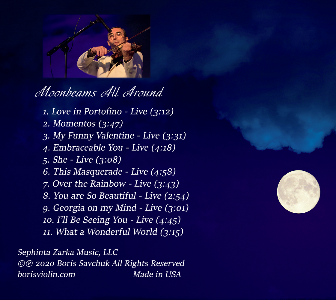 Moonbeams All Around Back Cover